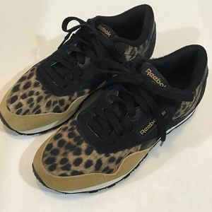 Classic Leopard Print Reebok Sneakers.